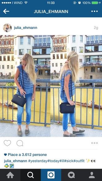 shirt blue shirt t-shirt light blue jeans