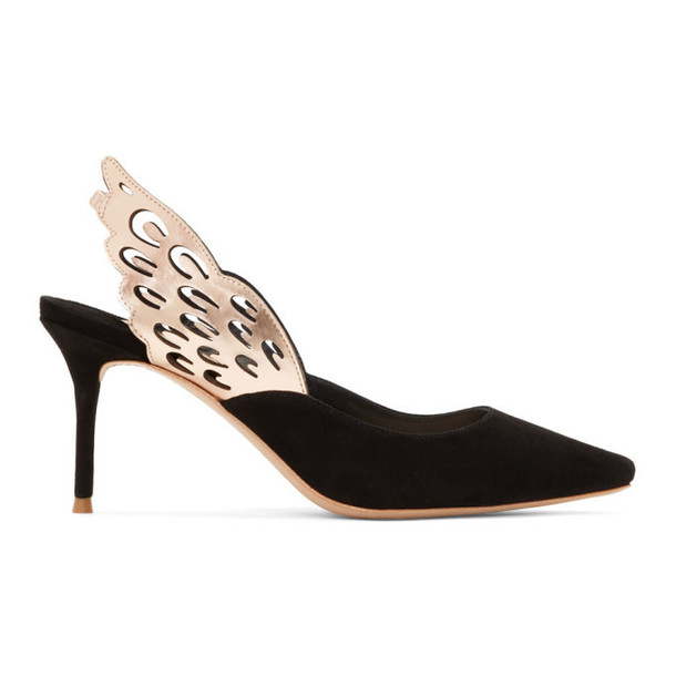Sophia Webster Black Suede Angelo Wing Heels