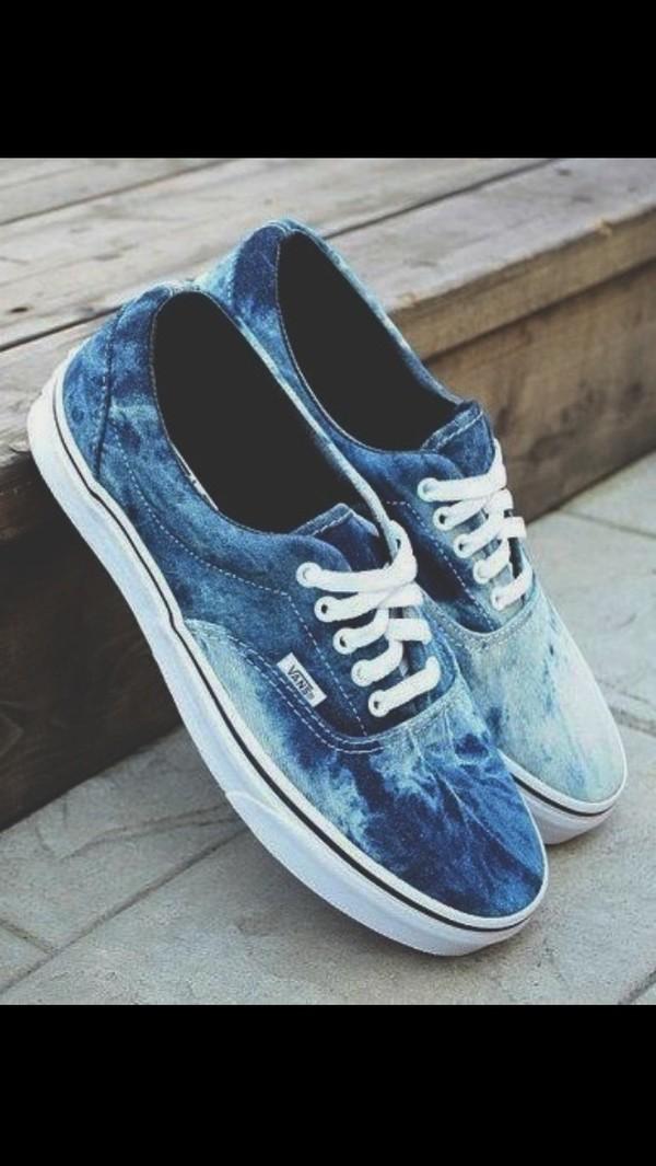 shoes blue vans