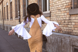 the fashion fraction blogger suede dress bell sleeves boho zalando bell sleeve top