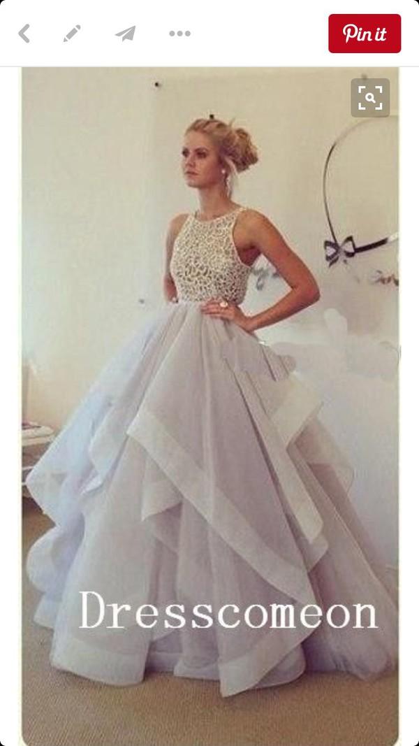 Ruffled long prom dresses