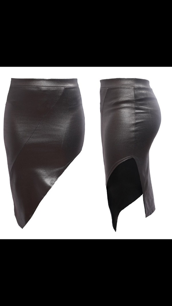 skirt leather skirt leather black black skirt black leather skirt