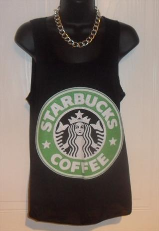 unisex customised black starbucks coffee top t shirt vest  | mysticclothing | ASOS Marketplace