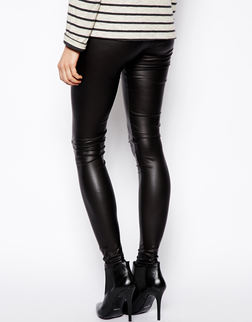 Leather Coated Leggings