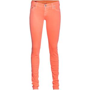 True religion shannon neon orange elastic skinny jeans