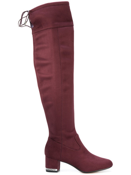 MICHAEL Michael Kors women leather suede purple pink shoes