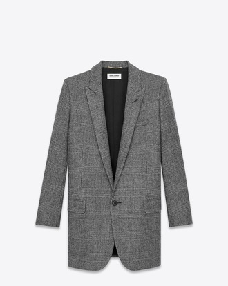 jacket ysl coat grey coat