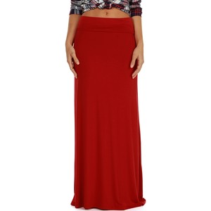 Red signature maxi skirt