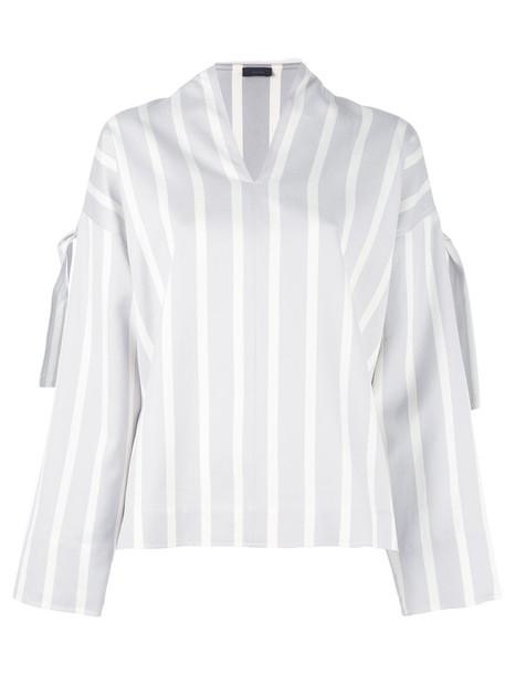 Joseph blouse women cotton silk grey top