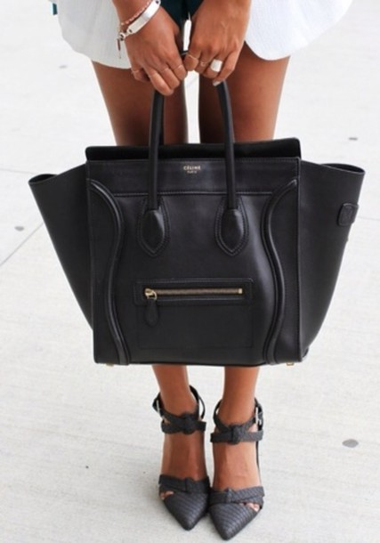 Bag: celine bag, celine, handbag, black bag, black, australia ...