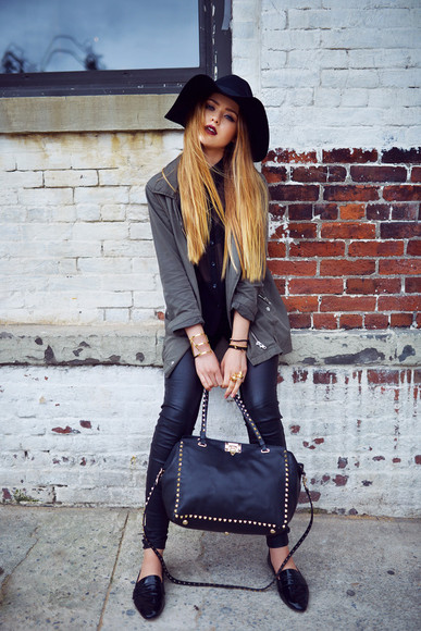 kayture shoes jewels top bag jacket blogger