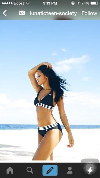 swimwear adidas swimsuit black bikini adidas
