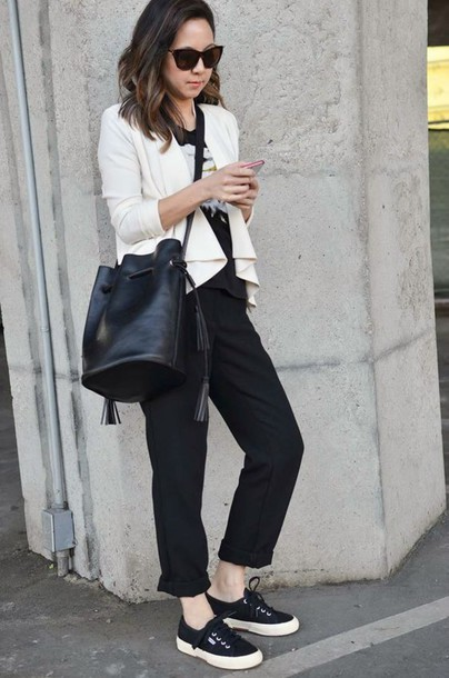 Alexa Chung Black White Shoes