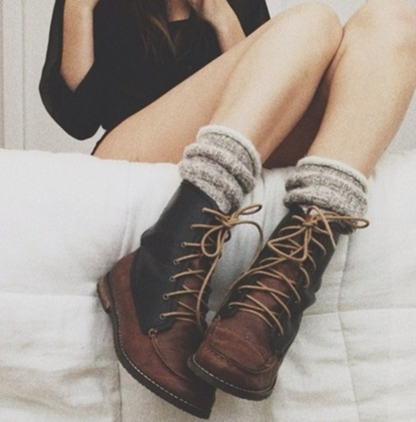 Shoes: boots, clothes, underwear, socks, combat boots, brown ...