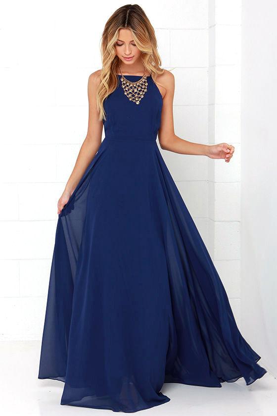 Mythical Kind of Love Navy Blue Maxi Dress