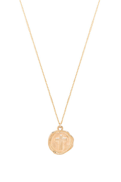 joolz by Martha Calvo Cross Coin Necklace in gold / metallic