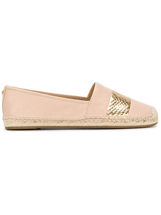 metallic women espadrilles leather nude shoes