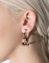 jewels,triangle diamond earrings,pixiemarket,accessories,earrings