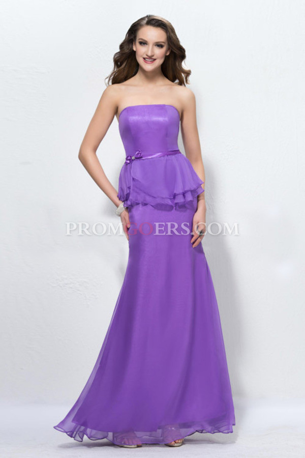 Dress mermaid prom dress bridesmaid chiffon prom dress for Destination wedding dresses for guests
