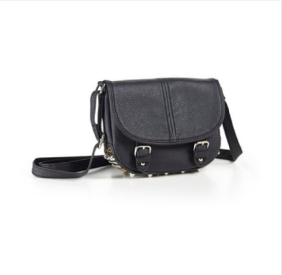 bag black bag studded bottom bag crossbody bag