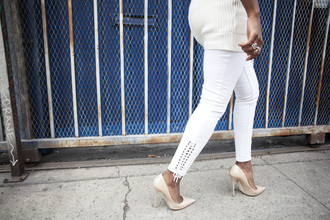 locks and trinkets blogger embellished denim white jeans urban outfitters