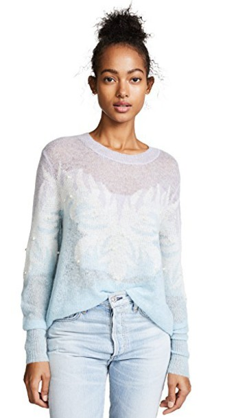 Wildfox sweater pale blue