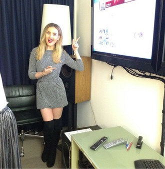 shoes boots thigh high boots perrie edwards