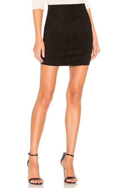 SPRWMN Suede Mini Skirt in black
