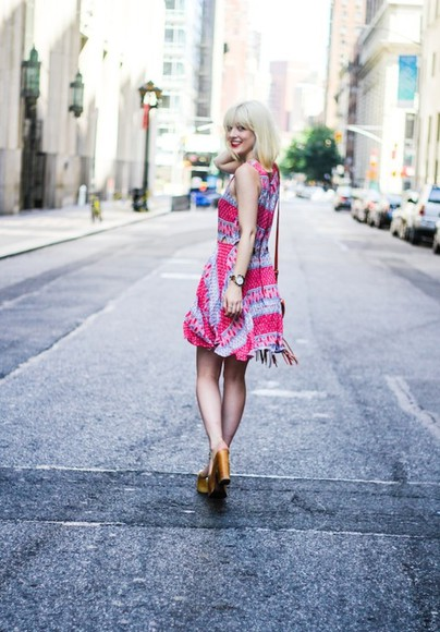 print dress dress blogger olivia-taylor lucca couture summer