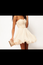 dress,white,strepless,champagne dress,white dress,cute dress,tumblr outfit,marriage
