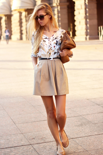 sirma markova shirt skirt bag belt jewels sunglasses