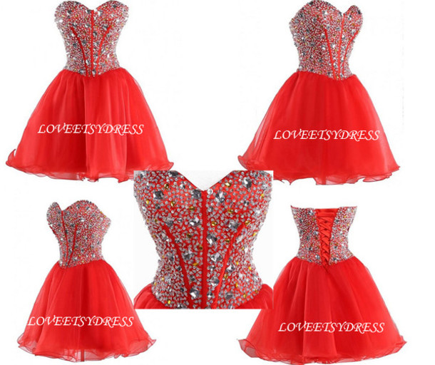 dress, red prom dress, prom dress, evening dress, short prom dress ...