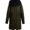 Mongolian-fur trimmed hooded shell coat