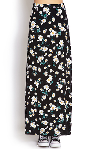 Flower Child M-Slit Maxi Skirt | FOREVER 21 - 2000070476