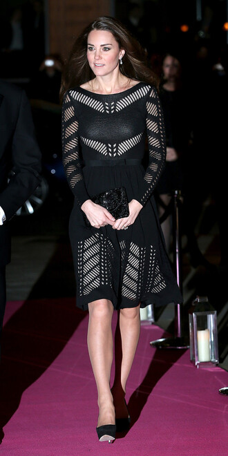 dress kate middleton black