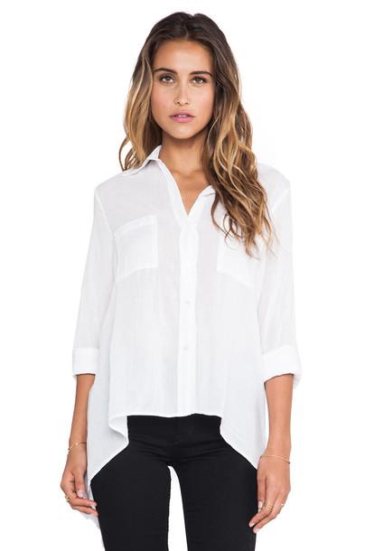 enza costa shirt white
