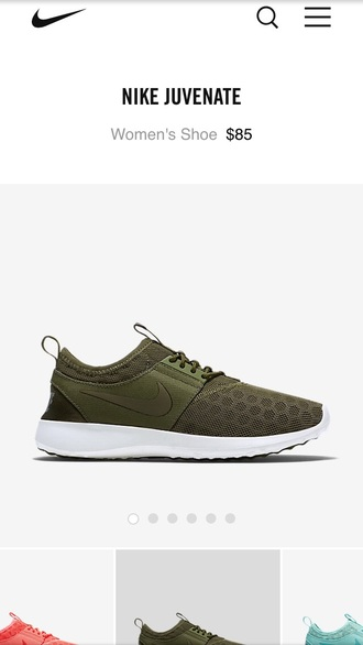 shoes nike sneakers olive green