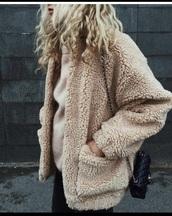 jacket,teddy,teddy coat,warm,winter outfits,fluffy,fur,wool,teddy jacket,fur coat,wool jacket,faux fur