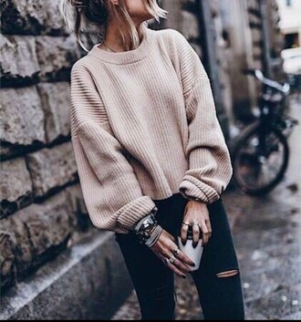 sweater lace up nude sweater nude sweater nude camel white white sweater vanilla tote vanila sweater weather printed sweater pullover pull vintage pullover nude pullover