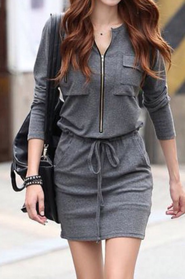 grey dress sweater dress winter dress fashion grey dress comfy comfy dress fashion inspo style summer summer dress stylish fashionista