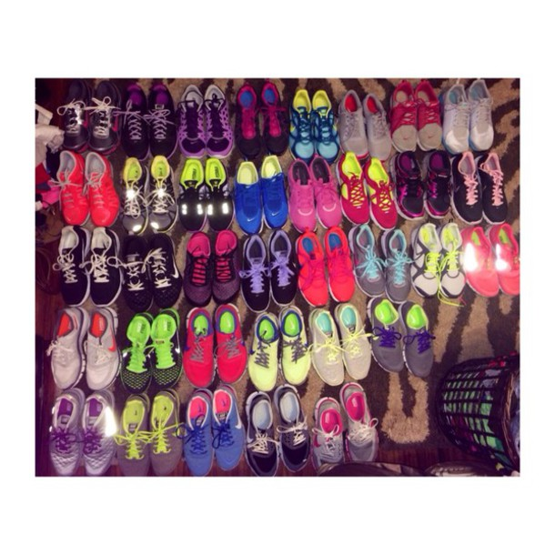 Nike running shoes for women neon colors