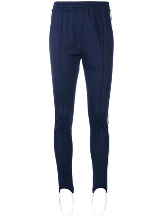 pants track pants women blue