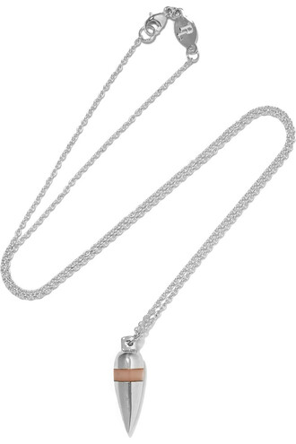 opal necklace silver jewels