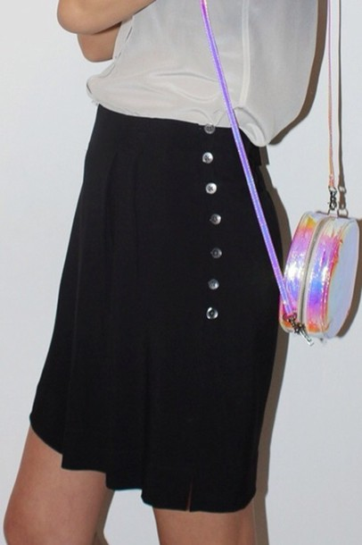 bag holographic holographic rainbow alternative cute skirt