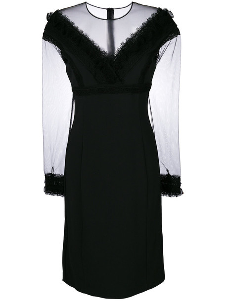 Ermanno Scervino dress lace dress women fit lace cotton black