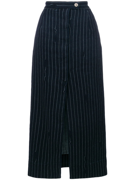 Vivienne Westwood skirt midi skirt women midi cotton blue