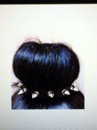 jewels spiked headband spikes cute kawaii black silver