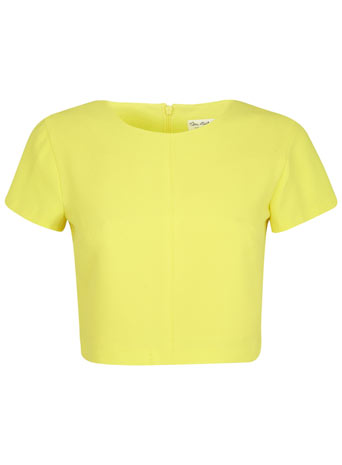 Yellow Crop T Shirt - Tops - Clothing - Miss Selfridge