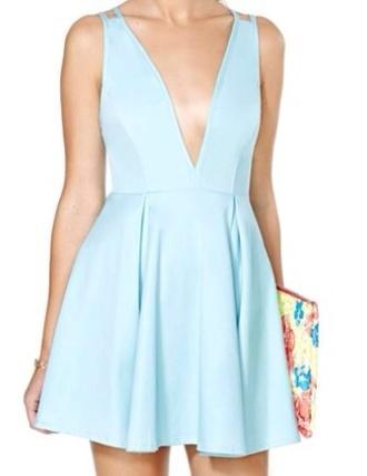 dress light blue dress floral clutch