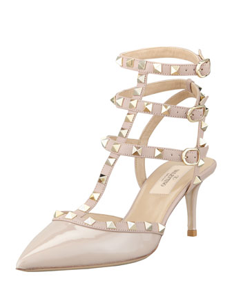 Valentino Rockstud Patent Leather Sandal - Bergdorf Goodman